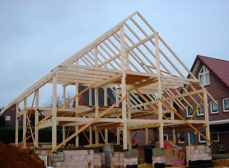Fertiger Holzrahmenbau für ein Einfamilienhaus